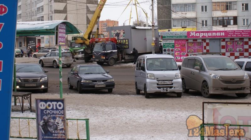 Снос приросших ларьков в Красноярске