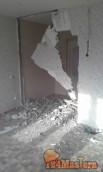 Демонтаж армированной ж/б перегородки межкомнатной в квартире