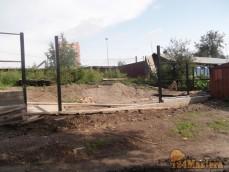 Строительство забора и опорной стены на ул.Транзитная 11