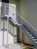 Лестница на второй этаж частный дом