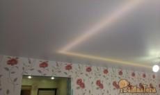 лента из светодиодов под полотном