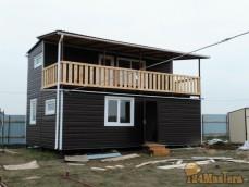 модульный дом - двухэтажное здание (5м.*8м., высотой-6м.) Основание – объемный  металлкарк...