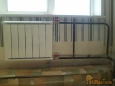 Установка радиатора - мкр. солнечный