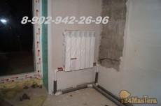 Радиаторная система отопления. Скрытая разводка, под залив...
