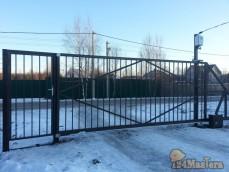 Откатные ворота решетчатого типа для гос.учереждения.