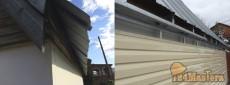 """Монтаж навесного вентилируемого фасада, материал - Сайдинг """"Корабельная доска""""Н..."""