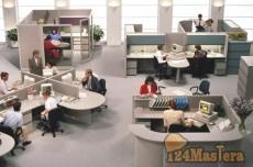 пример работы системы видеонаблюдения в офисе для контроля...