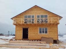 Дом из бруса под ключ.установка окон и дверей с деревянным...