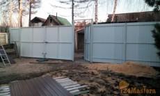 Уличные распашные ворота + калитка+ забор
