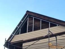 """Монтаж навесного вентилируемого фасада, материал - Сайдинг """"Корабельная доска"""""""