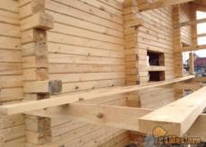 сруб дома из профилированого бруса в Красноярске. Строител...