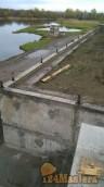 подпорная стена из блоков -сверху пояс лента-заклады под столбы--есаулова