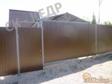 Забор из профлиста и ворота с калиткой!Смонтируем любой з...