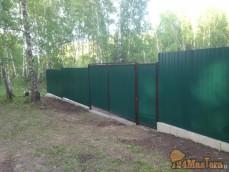 п. Овинный Ворота + забор + фундамент