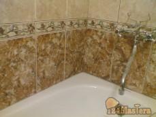 ванная комната с установкой ванны и подключением смесителя