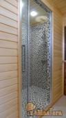 Душевая кабина строительного исполнения в бане
