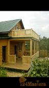 Обшивка фасадов и перестройки балкона