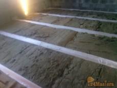 Теплоизоляция перекрытия минералватными матами плотностью 65 кг/м3