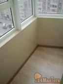 Лоджия 10м2. Теплый пол, ламинат. ПВХ панели.