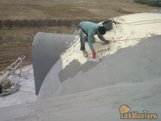 Шпатлёвка и окраска купольной крыши, работа на верёвках