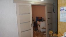 ФОТО откатная дверь двойная. Очень функционально и декорат...