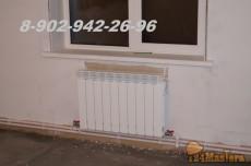 Радиаторная двухтрубная система отопления на принудительно...