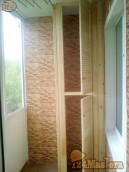Внутренняя обшивка, утепление балконов, лоджий деревянной вагонкой, пластиковыми панелями....