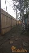 установка забора из заборной доски