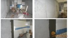 ФОТО укладка плитки по ровной стене под гребенку, плитка с...