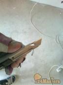 ДВА НОЖА. Этот нож куплен в Леруа Мерлен за 135 рублей(металлическая рукоятка). Время поль...
