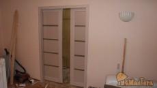 Откатная дверь на фото в Красноярске. Почти готово, вид из...