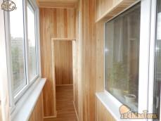 Обшивка балкона, лоджии, утепление. КрасноярскОбшиваем потолки, стены утеплителем, деревя...