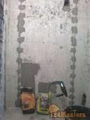 ВАННАЯ.Всё нахер взорвали - стяжку в полу, стены, потолок только пощадили.Маяки стоят. Д...