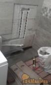 Выполняли очередной заказ. Душ в ванной из кирпича и керамогранита. КРАСНОЯРСК. РАЙОН ВЗЛЕ...