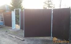 Уличные распашные ворота + Калитка + Забор