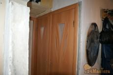Спаренная туалет и ванная и кухня проем