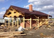 сруб дома из профилированного бруса в Красноярске. Строите...