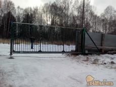 """Откатные ворота на ВФ """"BAU"""" п.""""Шале-клаб&qu..."""