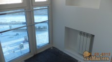 На данный балкон была выведена батарея и уложен теплый пол