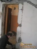 Расширение проема под дверь 960 мм, стена 20 см