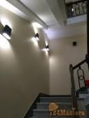 Капитальная геометрия лестницы. Штукатурка, наклейка стекловолокна, шпатлевание+покраска