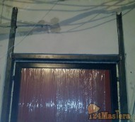 Расширение проема для входной двери с усилением и установк...