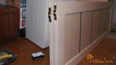 Пошаговое фото сборка откатной двери, верхние кронштейны п...