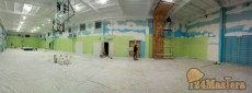 Покраска спортзала в гимназии
