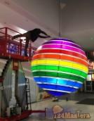 """Изготовление и монтаж новых световых шаров Т.Ц.""""Плане..."""