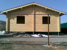 Фундамент для дома из клееного бруса м-н Солнечный, г. Кра...