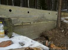 Строительство бани из клееного бруса. Фундамент