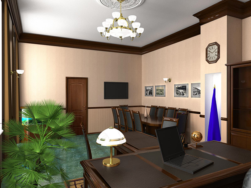 Ремонт в кабинете в квартире
