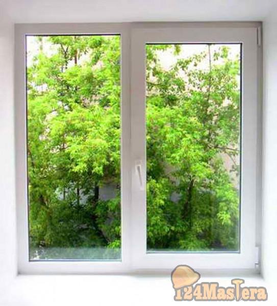 Окно из пластика в загородный дом