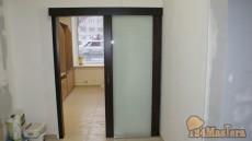 Дверь откатная царговая вид открыта